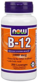 NOW Foods Vitamin B-12 1000 mcg., 250 Chewable Lozenges