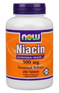 NOW Foods Niacin 500 mg Tablets, 250 Tablets