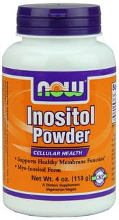 NOW Foods Inositol Powder Vegetarian, 4 Ounces