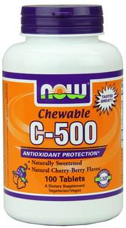 NOW Foods Vitamin C-500 Chewable Lozenges, 100 Chewable Lozenges