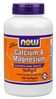 NOW Foods Calcium & Magnesium, 120 Softgels