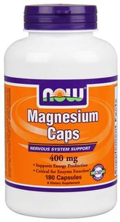 NOW Foods Magnesium 400 mg., 180 Vegi Capsules