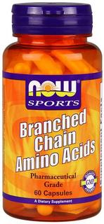 NOW Foods Branched Chain Amino Acids, 60 Capsules