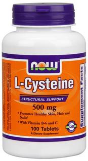 NOW Foods L-Cysteine 500 mg, 100 Tablets