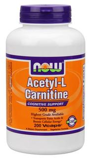 NOW Foods Acetyl-L Carnitine 500 mg., 200 Vegi Capsules