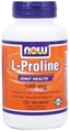 NOW Foods L-Proline 500 mg, 120 Vegi Capsules