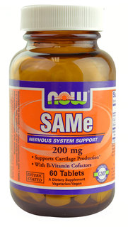 NOW Foods SAM-E 200 mg. per tablet, 60 Tablets