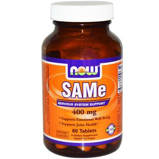 NOW Foods SAM-e 400 mg. per tablet, 60 Tablets