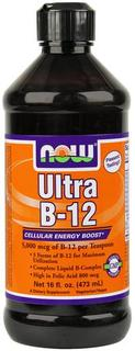 NOW Foods Ultra B-12 Liquid, 16 Ounces