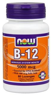 NOW Foods Vitamin B-12 5000mcg, 60 Lozenges
