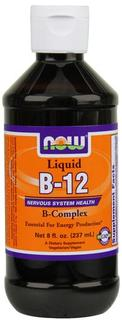 NOW Foods Vitamin B-12 Complex Liquid, 8 Ounces