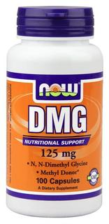 NOW Foods DMG 125mg Capsules, 100 Capsules