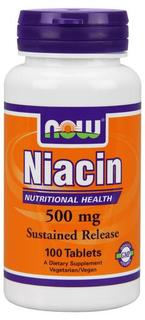 NOW Foods Niacin 500 mg Tablets, 100 Tablets