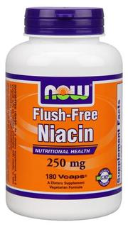 NOW Foods Flush-Free Niacin - 250 mg Vcaps, 180 Vegi Capsules