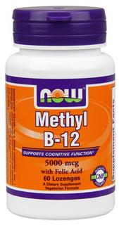 NOW Foods Methyl B-12 5,000 mcg Lozenges, 60 Lozenges