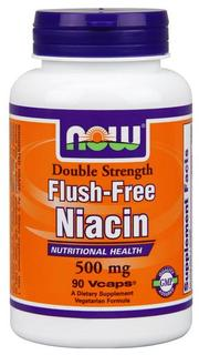 NOW Foods Flush-Free Niacin - 500 mg Vcaps, 90 Vegi Capsules