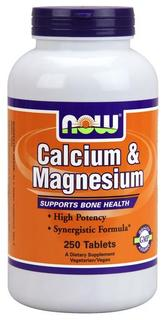 NOW Foods Calcium & Magnesium Tabs, 250 Tablets