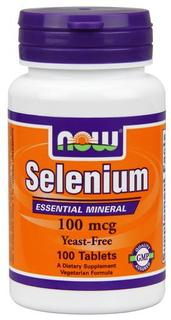 NOW Foods Selenium 100 mcg Tabs, 100 Tablets