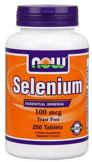 NOW Foods Selenium 100 mcg Tabs, 250 Tablets