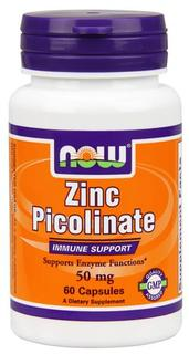 NOW Foods Zinc Picolinate 50 mg Caps, 60 Capsules