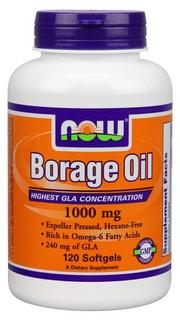 NOW Foods Borage Oil 1000 mg Softgels, 120 Softgels