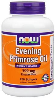 NOW Foods Evening Primrose Oil 500 mg Softgels, 250 Softgels