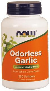 NOW Foods Garlic Odorless Softgels, 250 Softgels