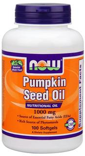 NOW Foods Pumpkin Seed Oil 1000 mg Softgels, 100 Softgels