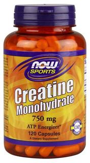 NOW Foods Creatine Monohydrate Caps, 120 Capsules