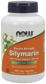 NOW Foods Silymarin 2X - 300 mg, 200 Vegi Capsules