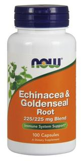 NOW Foods Echinacea & Goldenseal Root, 100 Capsules