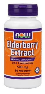 NOW Foods Elderberry 500 mg, 60 Vegi Capsules