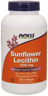 NOW Foods Sunflower Lecithin 1200 mg Soy-Free, 200 Softgels