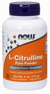 NOW Foods L-Citrulline Pure Powder, 4 Ounces
