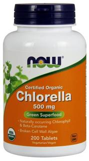 NOW Foods Chlorella 500 mg Tablets, 200 Tablets