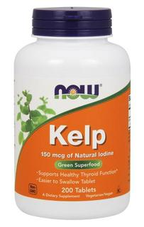 NOW Foods Kelp 150 mcg - Tablets, 200 Tablets