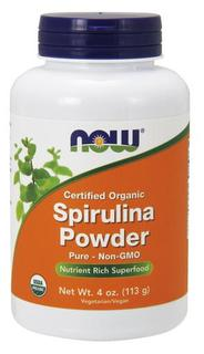 NOW Foods Spirulina Powder Organic, 4 Ounces
