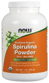NOW Foods Spirulina Powder Organic, 1 Pound