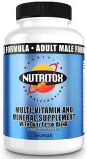 Nutritox Nutrition Men's 2/Day Multi-Vitamin, 60 Capsules