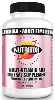 Nutritox Nutrition Women's 2/Day Multi-Vitamin, 60 Capsules