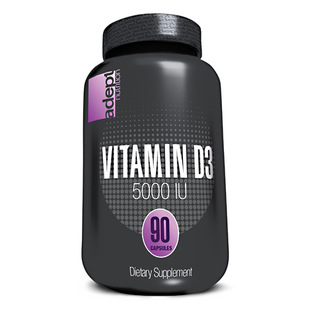 Adept Nutrition Vitamin D-3 5000 I.U., 90 Softgels