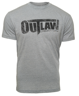 Distressed Logo T-Shirt - Grey, Grey Color