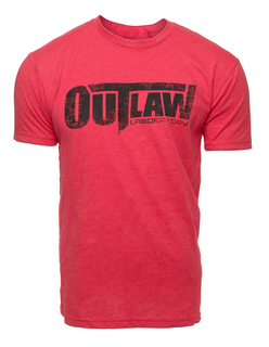 Distressed Logo T-Shirt - red
