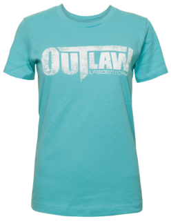 Distressed Logo Women's T-Shirt Turquoise, Turquoise Color