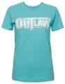 Distressed Logo Women's T-Shirt - Turquoise