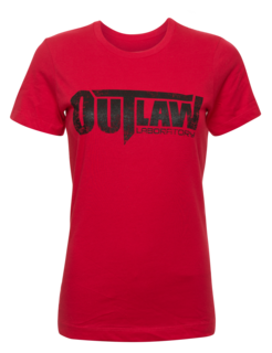 Distressed Logo Women's T-Shirt - Red