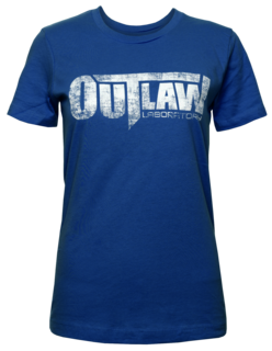 Distressed Logo Women's T-Shirt - Blue