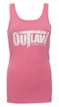 Distressed Logo Women's Tank - pink