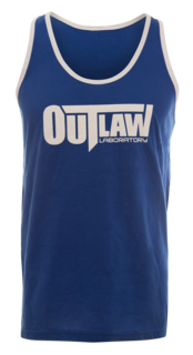 Outlaw Men's Tank Top - blue / striped
