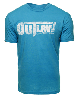 Distressed Logo T-Shirt - turquoise